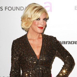 Tori Spelling in 19th Annual Elton John AIDS Foundation Academy Awards Viewing Party - Arrivals