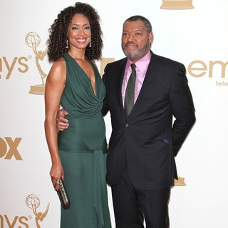 Gina Torres, Laurence Fishburne in The 63rd Primetime Emmy Awards - Arrivals