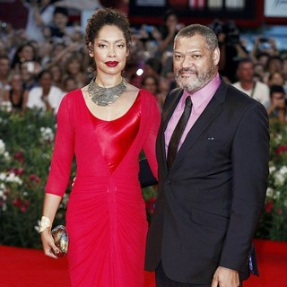Gina Torres, Laurence Fishburne in The 68th Venice Film Festival - Day 4 - Contagion - Premiere- Arrivals