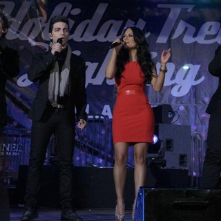 Pia Toscano, Il Volo in The 4th Annual Holiday Christmas Tree Lighting Ceremony and The Opening of LA Kings