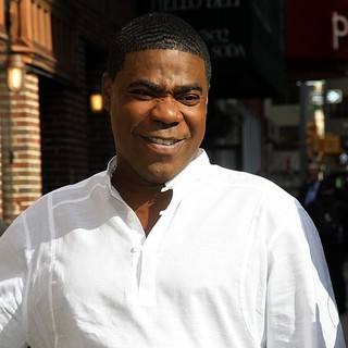 Tracy Morgan - Celebrities Arrive at The Ed Sullivan Theater to Appear on The Late Show with David Letterman