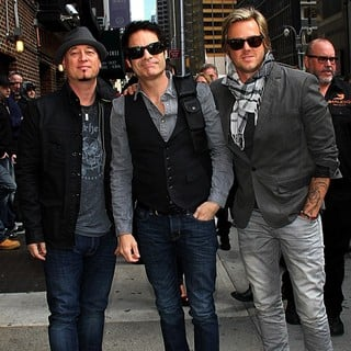 Train in Celebrities Arrive at The Ed Sullivan Theater for The Late Show with David Letterman