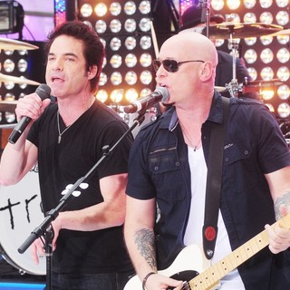 Pat Monahan, Jimmy Stafford, Train in Train Performing Live During The Today Show Summer Concert Series