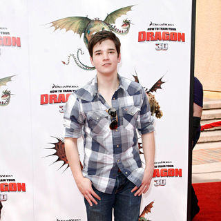 Nathan Kress in Los Angeles Premiere of 'How to Train Your Dragon'