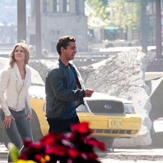 "Rosie Huntington-Whiteley, Shia LaBeouf in On The Set of New Movie ""Transformers 3"""