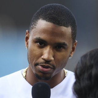 Trey Songz - Celebrities Attend The Los Angeles Dodgers v St. Louis Cardinals Baseball Game