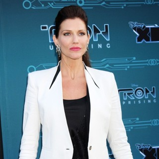 Tricia Helfer in Disney XD's TRON: Uprising Press Event and Reception