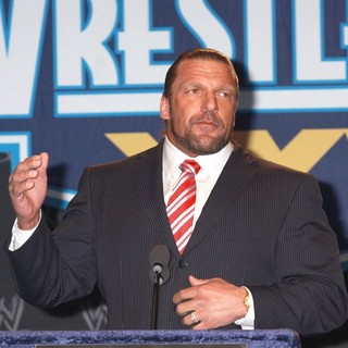 Triple H in A Press Conference with WWE Superstars for WrestleMania XXVII - triple-h-press-conference-with-wwe-superstars-03