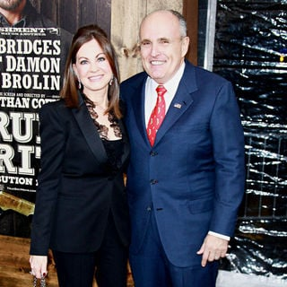 Judith Nathan, Rudy Giuliani in New York Premiere of 'True Grit'