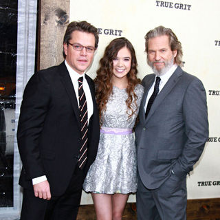 Matt Damon, Hailee Steinfeld, Jeff Bridges in New York Premiere of 'True Grit'