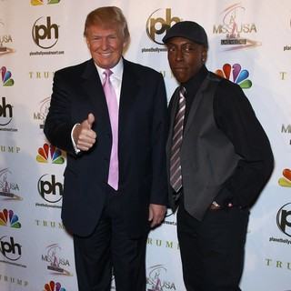 Donald Trump, Arsenio Hall in 2012 Miss USA Pageant - Red Carpet