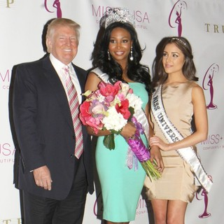 Donald Trump, Nana Meriwether, Olivia Culpo in Miss USA Crowning Ceremony Hosted by Donald Trump