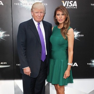 Donald Trump, Melania Trump in The Dark Knight Rises New York Premiere - Arrivals
