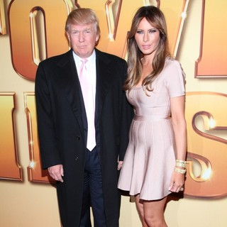 Donald Trump, Melania Trump in World Premiere of Tower Heist - Arrivals