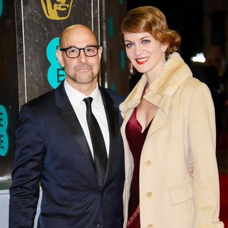 Stanley Tucci, Felicity Blunt in EE British Academy Film Awards 2014 - Arrivals
