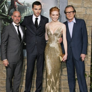Stanley Tucci, Nicholas Hoult, Eleanor Tomlinson, Bill Nighy in Premiere of Jack the Giant Slayer