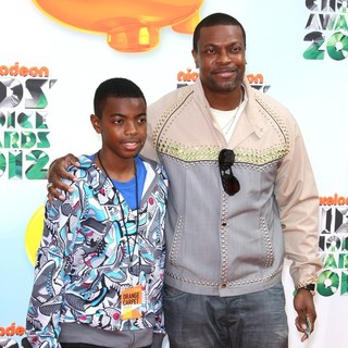 Destin Tucker, Chris Tucker in 2012 Kids' Choice Awards - Arrivals