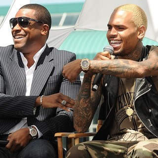 Chris Brown in BET Awards 2013 Press Conference - tucker-brown-bet-awards-2013-press-conference-01