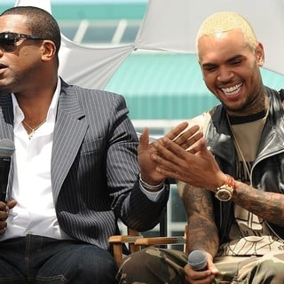 Chris Brown in BET Awards 2013 Press Conference - tucker-brown-bet-awards-2013-press-conference-02