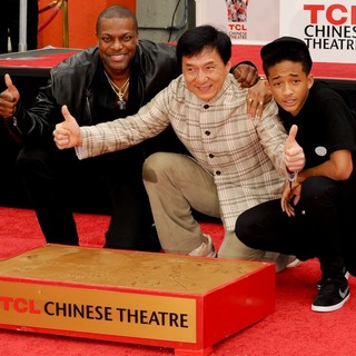 Chris Tucker, Jackie Chan, Jaden Smith in Jackie Chan Is Honoured with A Hand and Foot Print Ceremony