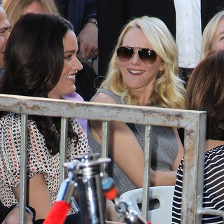 Robin Tunney, Naomi Watts in Simon Baker Is Honoured with A Star on The Hollywood Walk of Fame