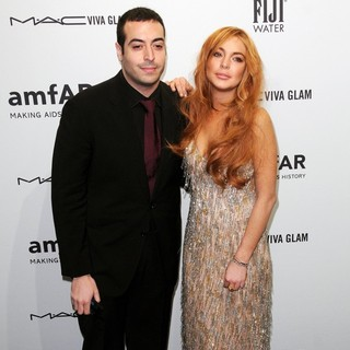 Mohammed Al Turki, Lindsay Lohan in The amfAR Gala 2013