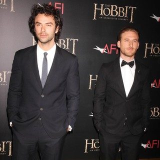 Aidan Turner, Dean O'Gorman in Premiere of The Hobbit: An Unexpected Journey