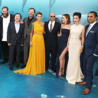 Jon Turteltaub, Page Kennedy, Olafur Darri Olafsson, Masi Oka, Rainn Wilson, Ruby Rose, Jason Statham, Jessica McNamee, Li Bingbing, Cliff Curtis in Warner Bros. Pictures and Gravity Pictures' Premiere of The Meg