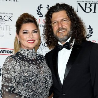 Shania Twain, Frederic Thiebaud in Nevada Ballet Theatre Black and White Ball 2020