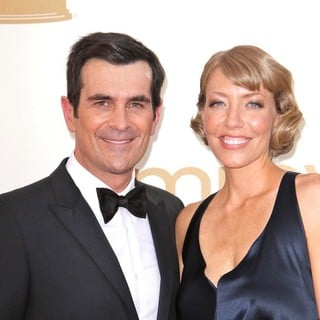 Ty Burrell, Holly Burrell in The 63rd Primetime Emmy Awards - Arrivals