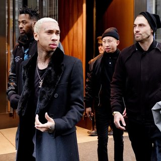 Tyga Leaving His Hotel in New York