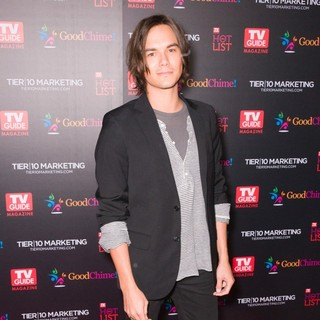 Tyler Blackburn in TV Guide Magazine's Annual Hot List Party