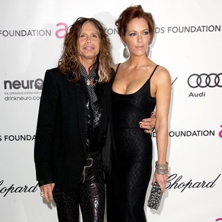 Steven Tyler, Erin Brady in The 20th Annual Elton John AIDS Foundation's Oscar Viewing Party - Arrivals