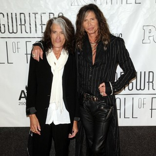 Joe Perry, Steven Tyler, Aerosmith in 44th Annual Songwriters Hall of Fame - Red Carpet Arrivals