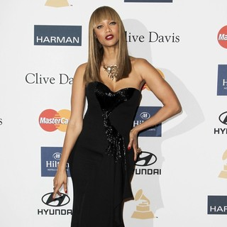 Tyra Banks in Clive Davis and The Recording Academy's 2013 Pre-Grammy Gala and Salute to Industry Icons