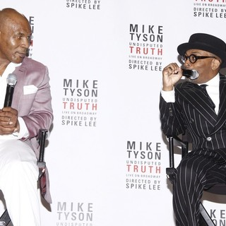 Mike Tyson, Spike Lee in Mike Tyson Undisputed Truth, Live on Broadway Press Conference