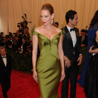 Uma Thurman in PUNK: Chaos to Couture Costume Institute Gala