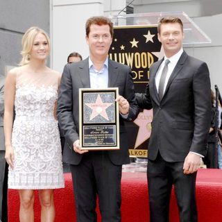 Carrie Underwood, Simon Fuller, Ryan Seacrest in Simon Fuller Receives A Star on The Hollywood Walk of Fame