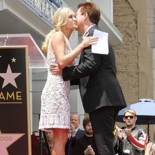 Carrie Underwood, Simon Fuller in Simon Fuller Receives A Star on The Hollywood Walk of Fame