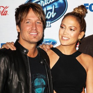 Keith Urban, Jennifer Lopez in FOX's American Idol XIII Finalists Party