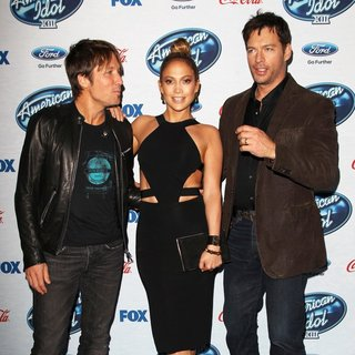 Keith Urban, Jennifer Lopez, Harry Connick Jr. in FOX's American Idol XIII Finalists Party