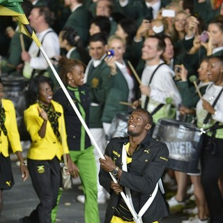 Usain Bolt in The Opening Ceremony of The London 2012 Olympic Games