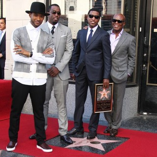 Usher, P. Diddy, Babyface, L.A. Reid in Babyface Honored with A Walk of Fame Star Ceremony