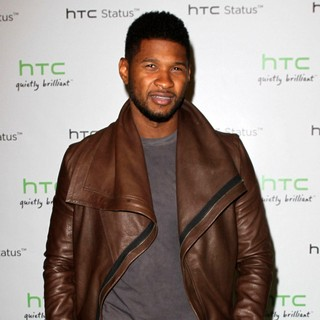 Usher in The HTC Status Social Launch Event - Arrivals