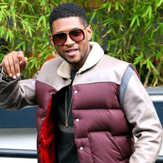 Usher Outside The ITV Studios - usher-outside-the-itv-studios-01