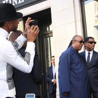 Usher, Stevie Wonder, Babyface in Babyface Honored with A Walk of Fame Star Ceremony