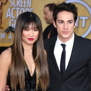 Jenna Ushkowitz, Michael Trevino in 19th Annual Screen Actors Guild Awards - Arrivals