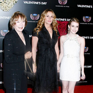 Shirley MacLaine, Julia Roberts, Emma Roberts in Los Angeles World Premiere of 'Valentine's Day' - Red Carpet