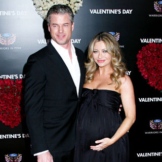 Eric Dane, Rebecca Gayheart in Los Angeles World Premiere of 'Valentine's Day' - Red Carpet