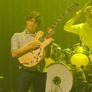 Ezra Koenig, Chris Tomson, Vampire Weekend in Vampire Weekend Perform at Fillmore Miami Beach